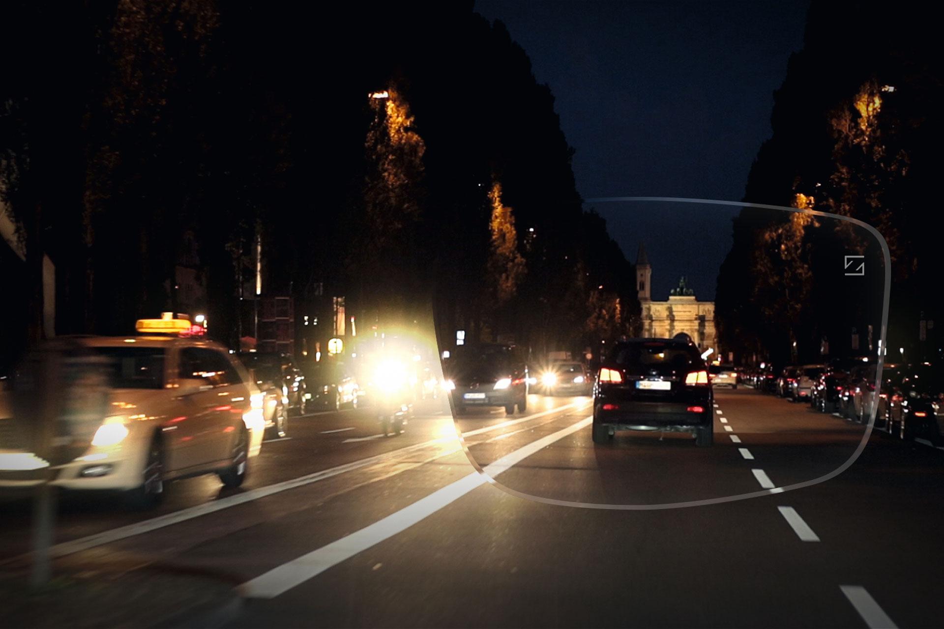 dåligt mörkerseende bilkörning